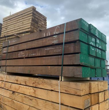 New Azobe (Ekki) Untreated Railway Sleepers