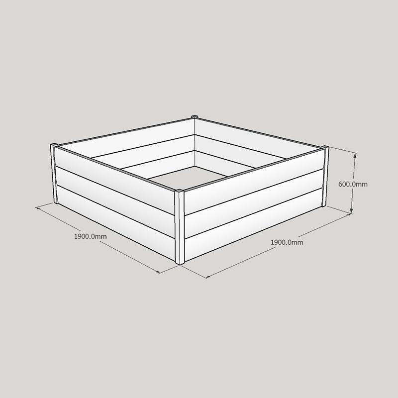 Half Loglap Planter 1900x1900 Buy Raised Bed Kits Online