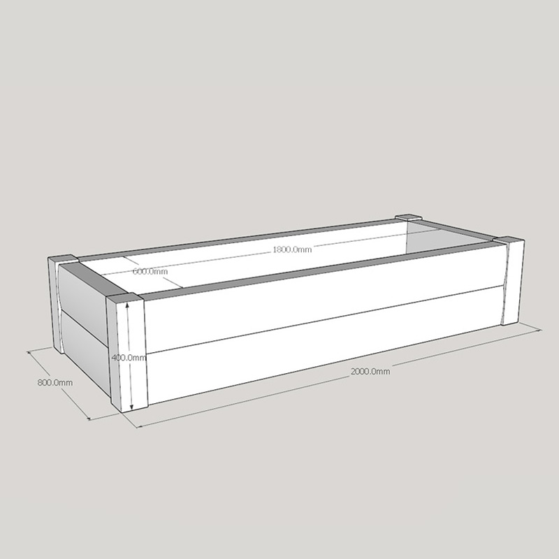 Brown Loglap Planter 2000 X 800 Buy Raised Bed Kits