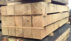 250 x 250 Structural Green Oak Beams