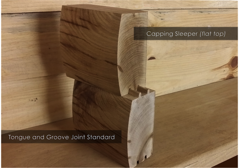 Brown Treated Log Lap, Jigsaw Railway Sleepers | Buy Railway