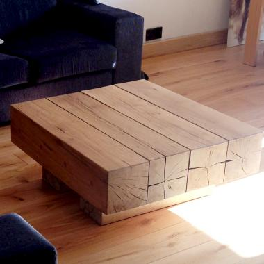 4 Beam Top Coffee Table