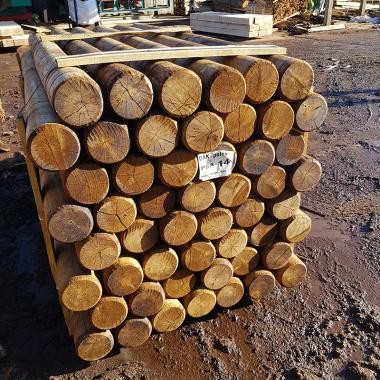 Machine Rounded Oak Landscaping Poles