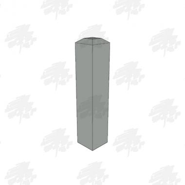 Oak Bollard - 4 Way Flat Top