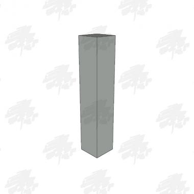 Oak Bollard - Flat Top - Double Groove