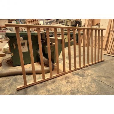 Heavy Duty Oak Chamfered Spindle Panel