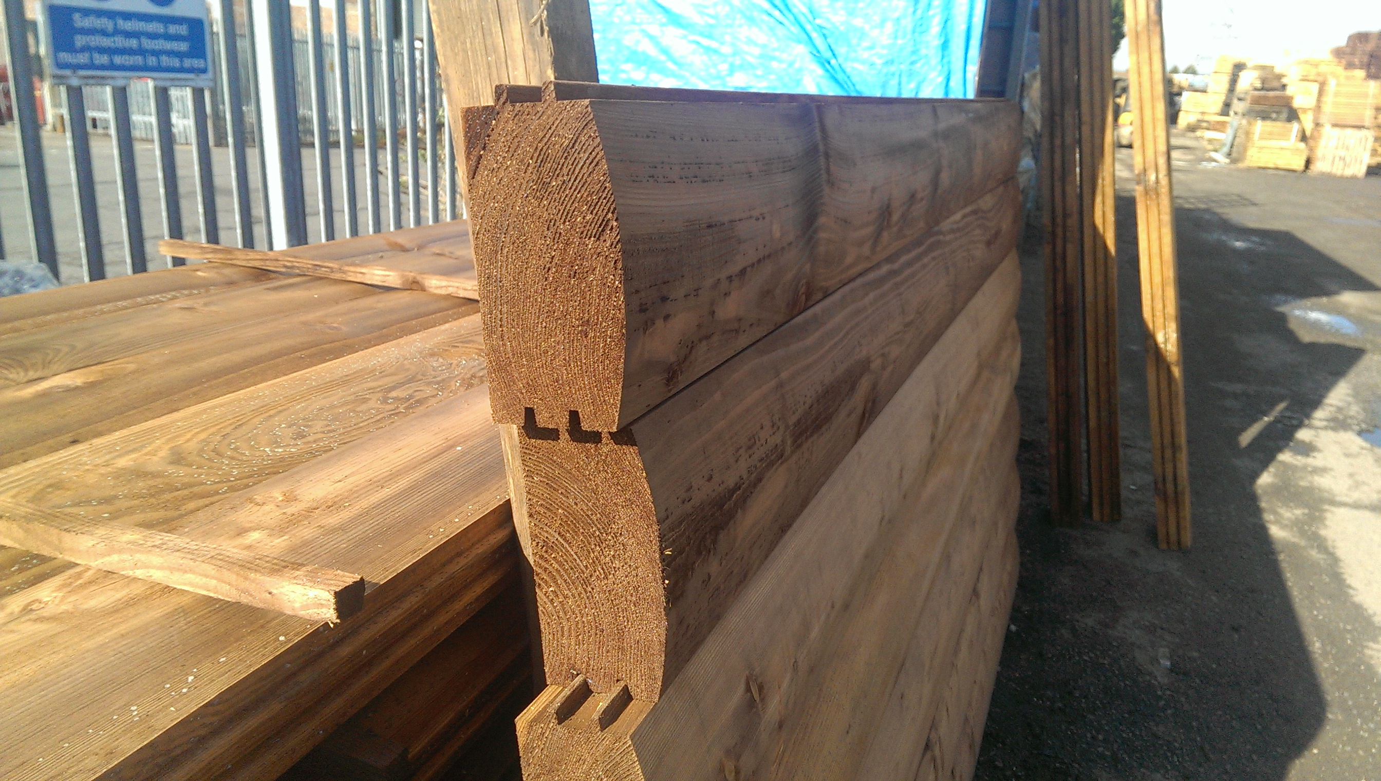 Brown Treated Log Lap Jigsaw Railway Sleepers Buy