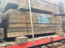 Untreated Reclaimed Tropical Hardwood (Jarrah) Sleepers - Approx 2.6m