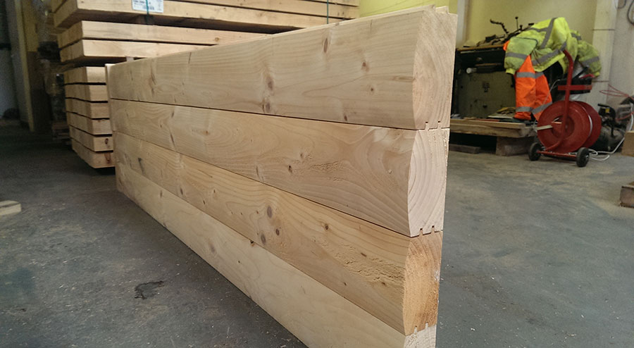 Larch Douglas Fir Log Lap Jigsaw Railway Sleepers Buy