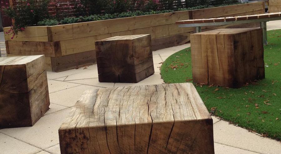Solid Oak Cubes Oak Beam Offcuts Buy Garden Furniture