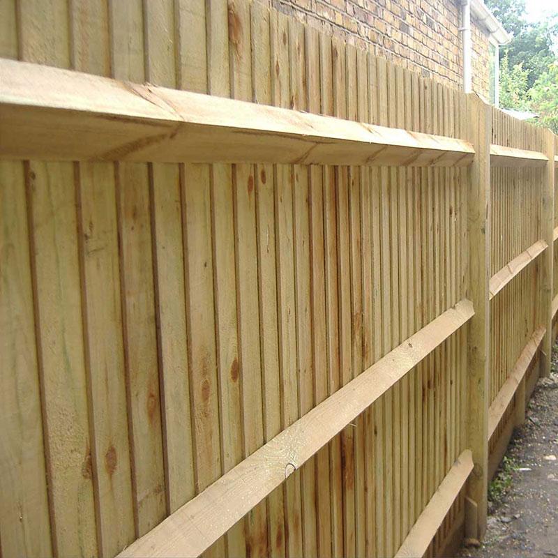 New oak arris rails buy fencing materials online uk