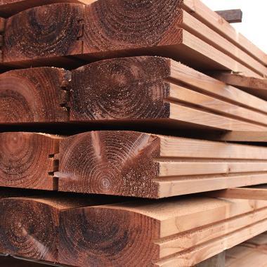 Brown Treated Log Lap, Jigsaw Railway Sleepers