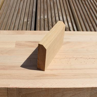 Chamfered European Oak Skirting