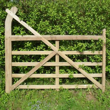 Oak Curved Heel (Ranch) Gate