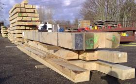 200 x 200 Structural Green Oak Beams