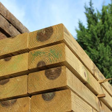 Planed All Round & Bevelled Treated Softwood Sleeper