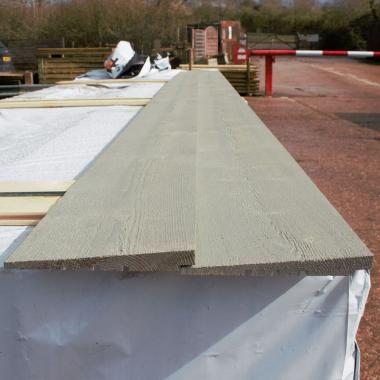 Grey Painted Rebated Featheredge Cladding Sample