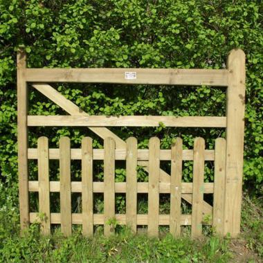 Oak Half Paled Gate