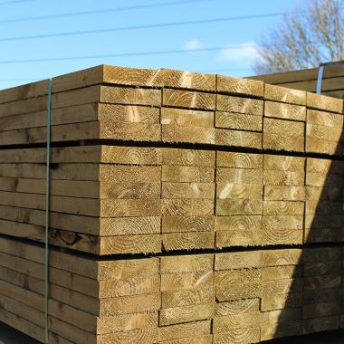 Mini Green Treated Softwood Sleepers
