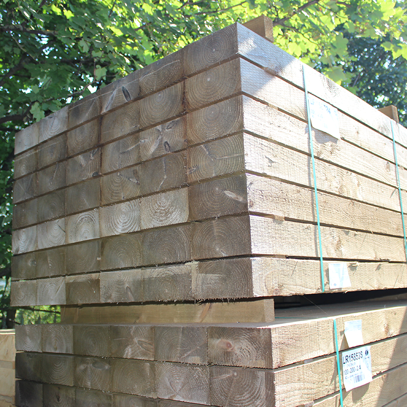 Incised Green Pressure Treated Sleepers | Buy Railway Sleepers
