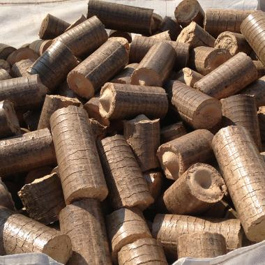 Mechanically Pressed High Quality Hardwood Briquettes