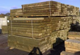 New Green Pressure Treated Softwood Sleeper