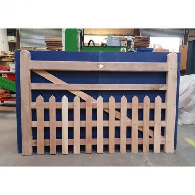 Oak Half Paled Gate - Pointed Pales