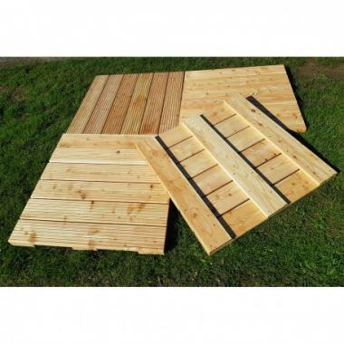 Pack of 4 Untreated English Larch Douglas Fir Decking Tiles