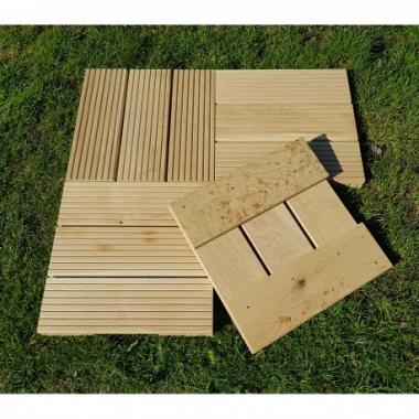 Pack of 4 Oak Decking Tiles