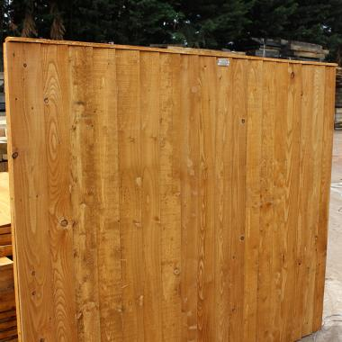 Brown Treated Featheredge Fence Panel