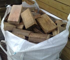 1 cubic metre bag of seasoned firewood