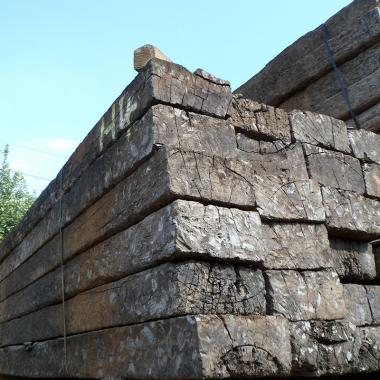 Untreated Reclaimed Tropical Hardwood Sleepers - Approx 2.4m