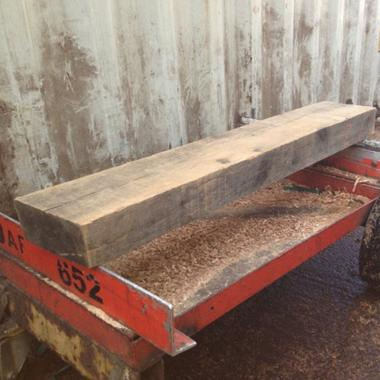 610mm Sawn Rustic Oak Mantel Piece For Fireplace Surrounds