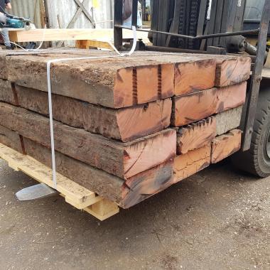 Extra Large Untreated Reclaimed Tropical Hardwood Sleepers