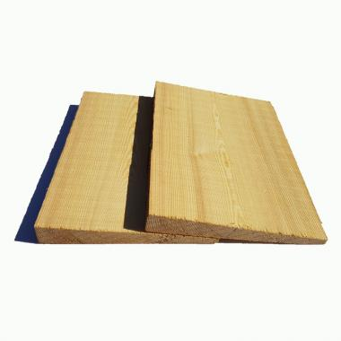 Siberian Larch Featheredge Cladding Sample