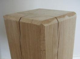 Hand Crafted Solid Oak Lamp Stand