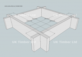 Quick Fix New Untreated Larch/Douglas Fir Raised Bed Kit - Square
