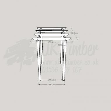 Standard Pergola Kit 1.8m x 2.4m Walkway
