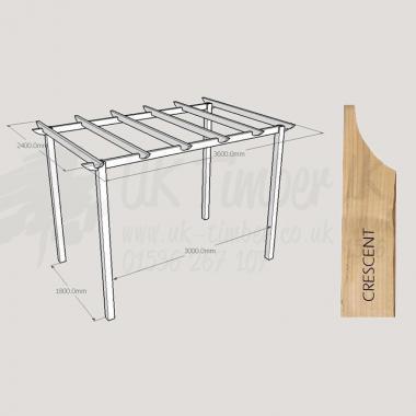 Standard Pergola Kit 2.4m x 3.6m