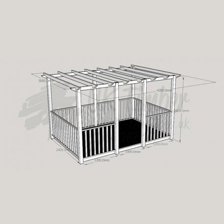 Ultima Terrace Plus - 2 4m x 3 6m Deck & 3 0m x 4 2m Pergola