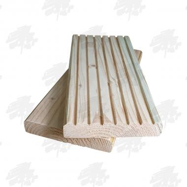 Untreated English Larch Decking (145x28mm)
